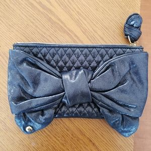 Juicy Couture Cowhide Bow Clutch (Black)